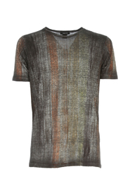 ROUND NECK BRUSHED LINEN T-SHIRT