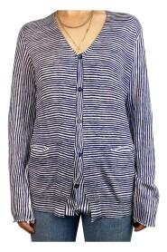 cardigan med stripete trykk