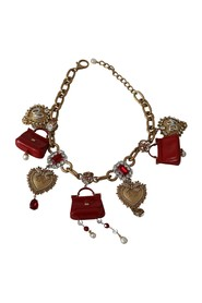 Chain Crystal Sicily Bag Statement Necklace