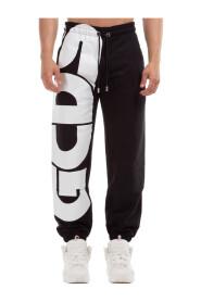 men's sport tracksuit trousers macro logo