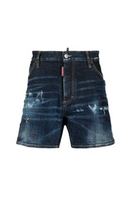 Ripped Belt Patch Shorts