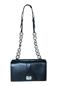 Soft Leather Bag with Chain