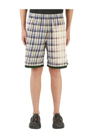 Bleached Check Shorts