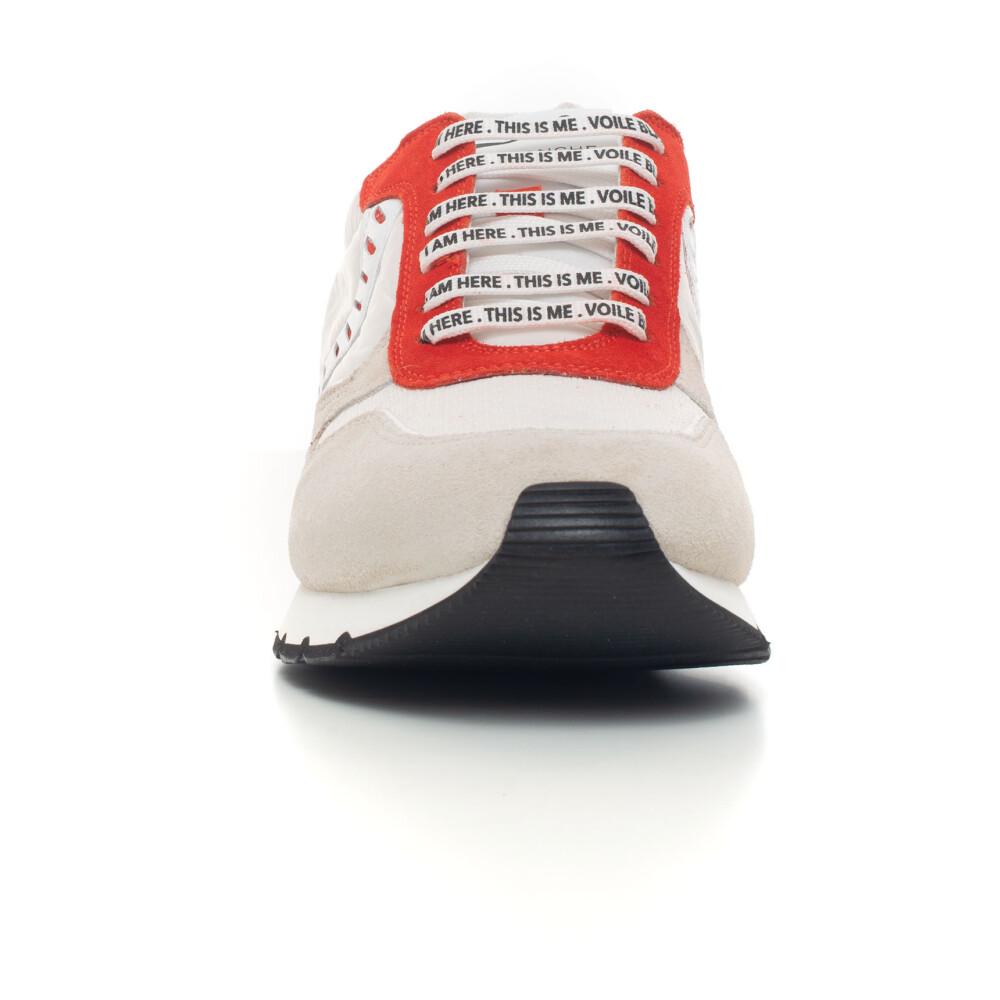 Beige/red Liam power Sneaker | Voile Blanche | Sneakers | Herenschoenen