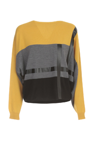 SHORT BOAT NECK SWEATER TRICOLOUR