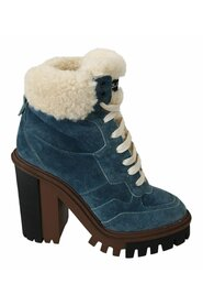 Shearling Ankle High Boots Shoes