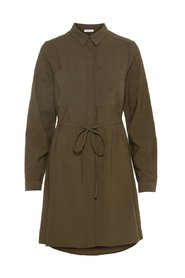 Shirt dress Solid-coloured