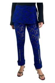 Brukte jacquard-bukser med belte