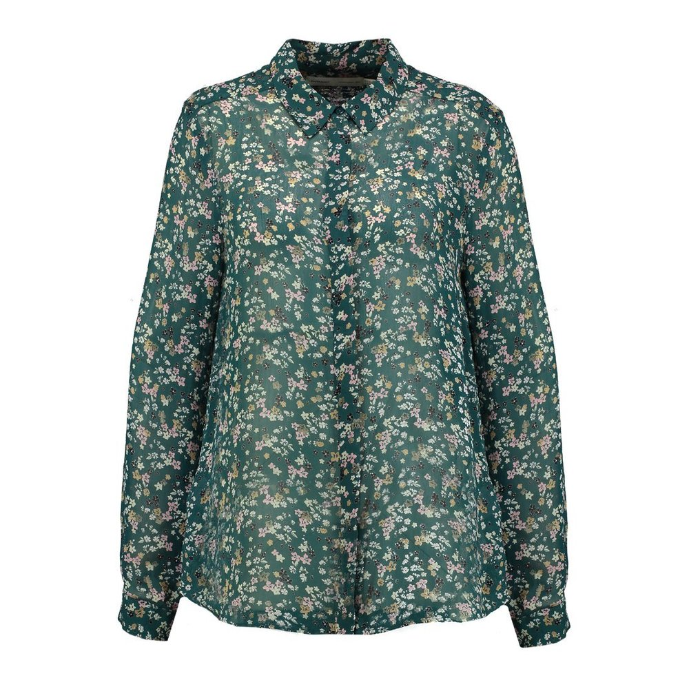 Hayden shirt Warm green ditsy flowers - InWear