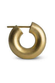 Small Chunky Hoops, gold-plated sterling silver