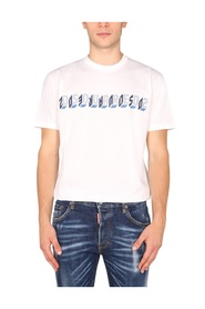 T-SHIRT WITH MIRROR LOGO