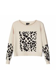 Trui cropped loose fit panter