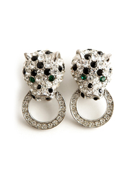 Panther ring clip earrings
