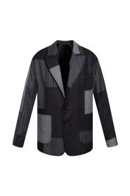 Raw-trimmed blazer
