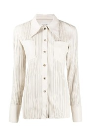 long sleeve pleat shirt