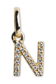 Letter Pendant with Diamonds N, 18 carat gold