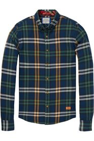 Classic checked flannel shirt