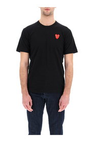 t-shirt with heart logo patch
