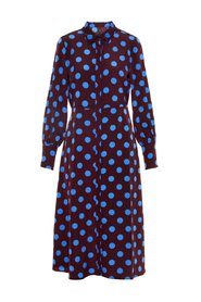 Shirt dress Polka-dot midi