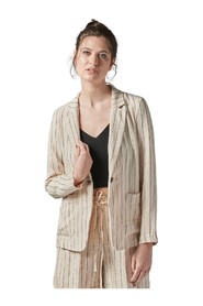 STRIPED SINGLE-BREASTED JACKET