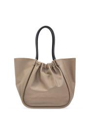 Ruched shopper bag
