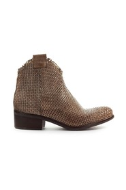TAUPE BRAIDED ANKLE BOOT
