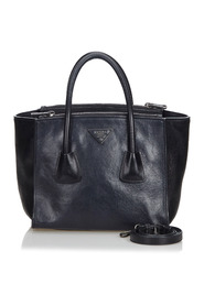 Leather Twin Pocket Tote