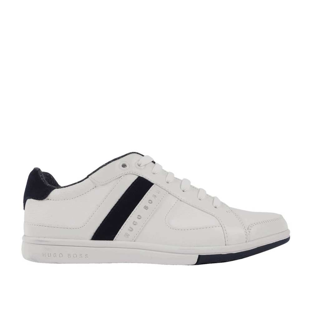 Low-Top-Sneakers im Materialmix