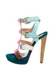 Patent og lær Rocknbuckle sandaler