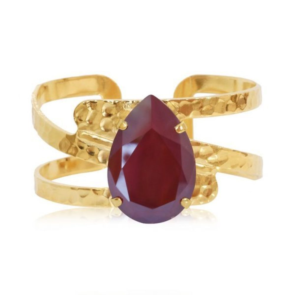 Caroline Svedbom Perfect Drop Bangle Dark red