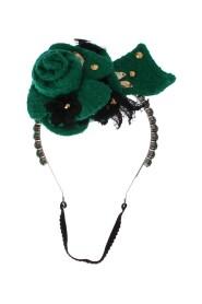 Blommor Crystal Silver Headband