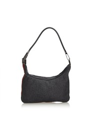 Web Denim Shoulder Bag
