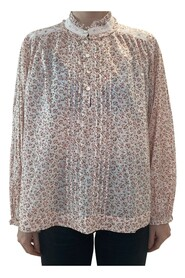 Long sleeved floral high neck blouse