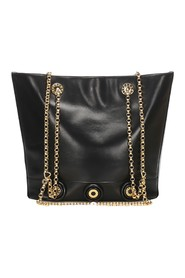 Chain Leather Tote Bag