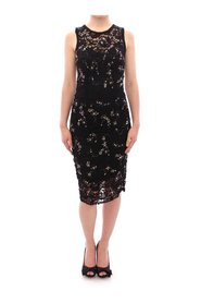 Floral lace crystal embedded dress
