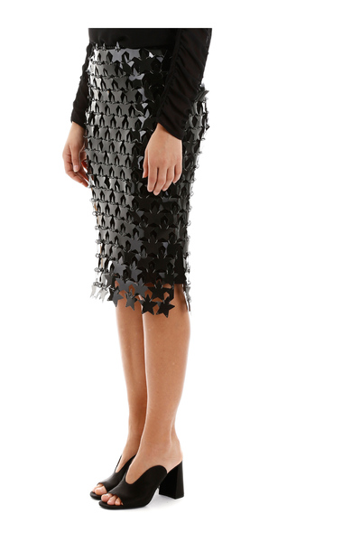 Black Star Sequins Skirt Paco Rabanne Midikjolar
