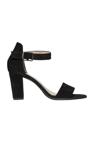 Black Pavement Silk Sandal