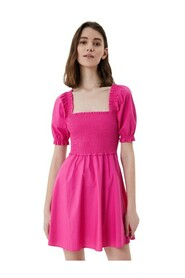 Dress with Balloon Sleeves