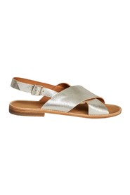 Birmanie laminated leather sandals