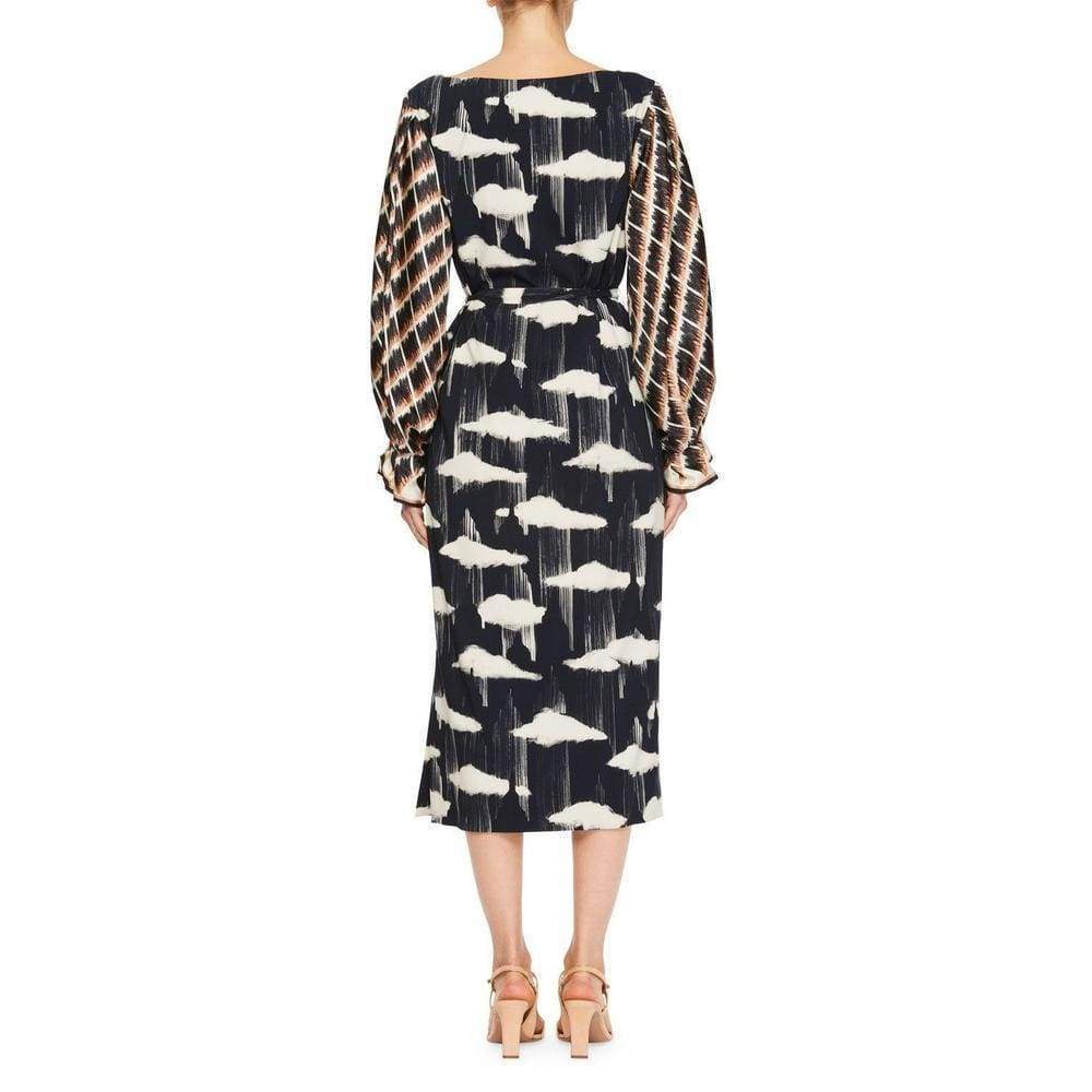 Dries Van Noten blue Docta Puff Sleeve Midi Dress Dries Van Noten
