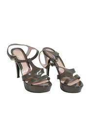 Patent Leather Heeled Sandals Shoes Pumps