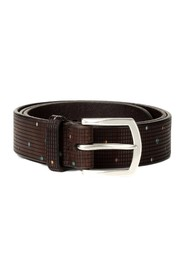 BULL LEATHER BELT WITH TETRIS DRAWING