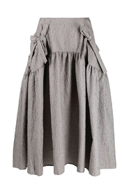 JUSTICE PANELLED SKIRT WITH GATHERED POCKETS