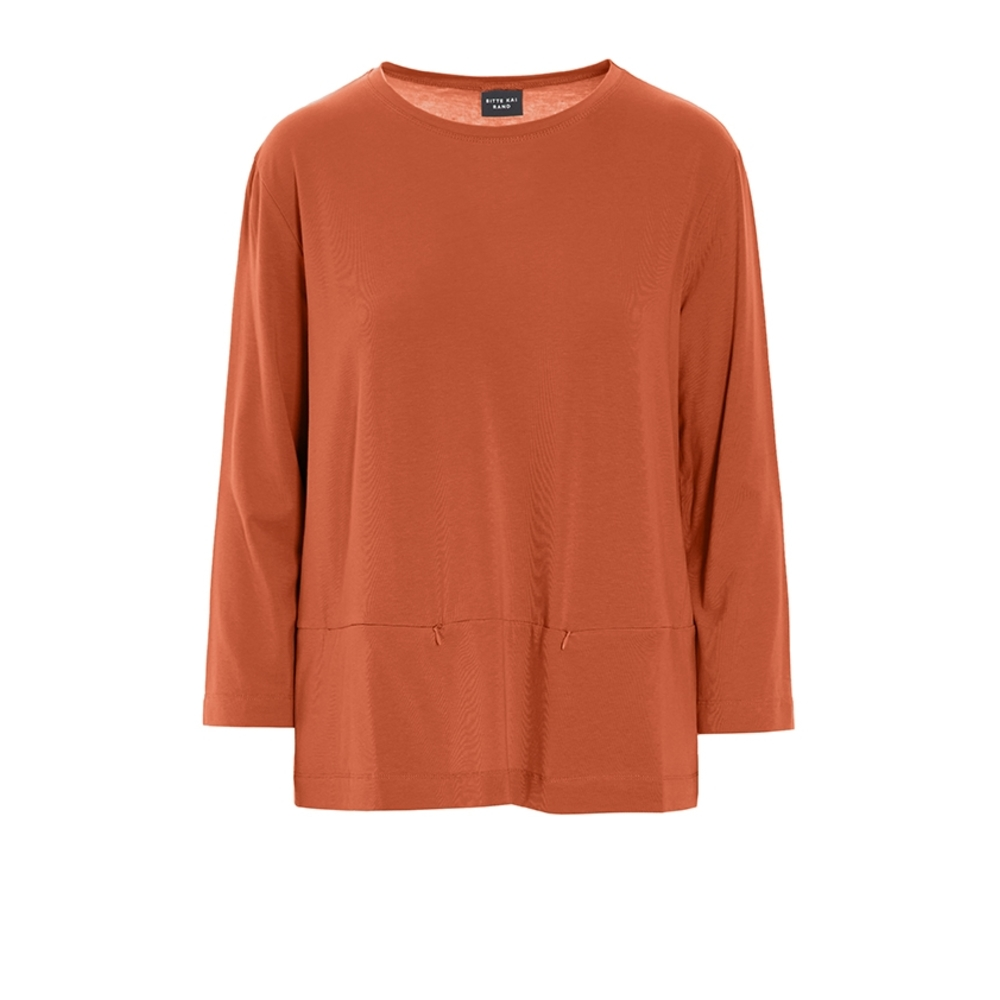 ATLAS JERSEY BLOUSE WITH POCKETS