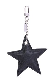 LEATHER STAR CHARM W/SILVER