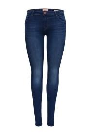 Skinny fit jeans Allan reg skubbe op