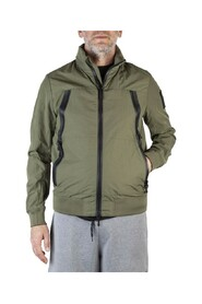 Rain and wind jacket with shoulder strap