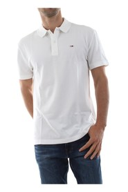 TOMMYs JEANS DM0DM05508 TOMMY CLASSIC P POLO Mænd Hvid