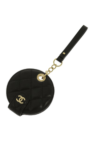 Pre-owned Round Luggage Tag Leather Lambskin