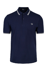 Blå Fred Perry Twin Tipped Fp Pique
